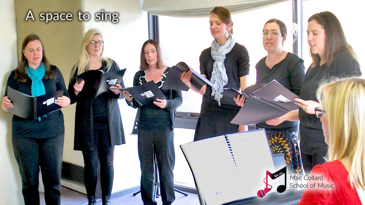 TLC Choir singing at a recital - A space to sing