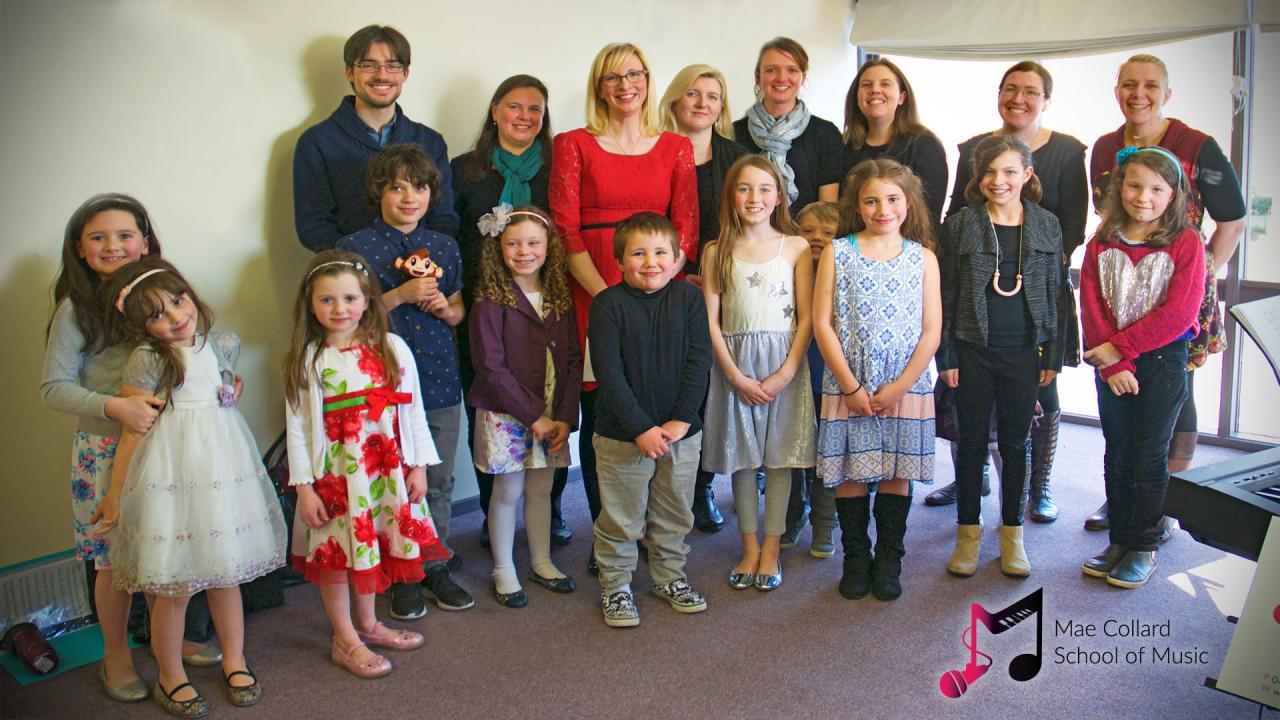 Mae Collard School of Music Class of 2017 group photo