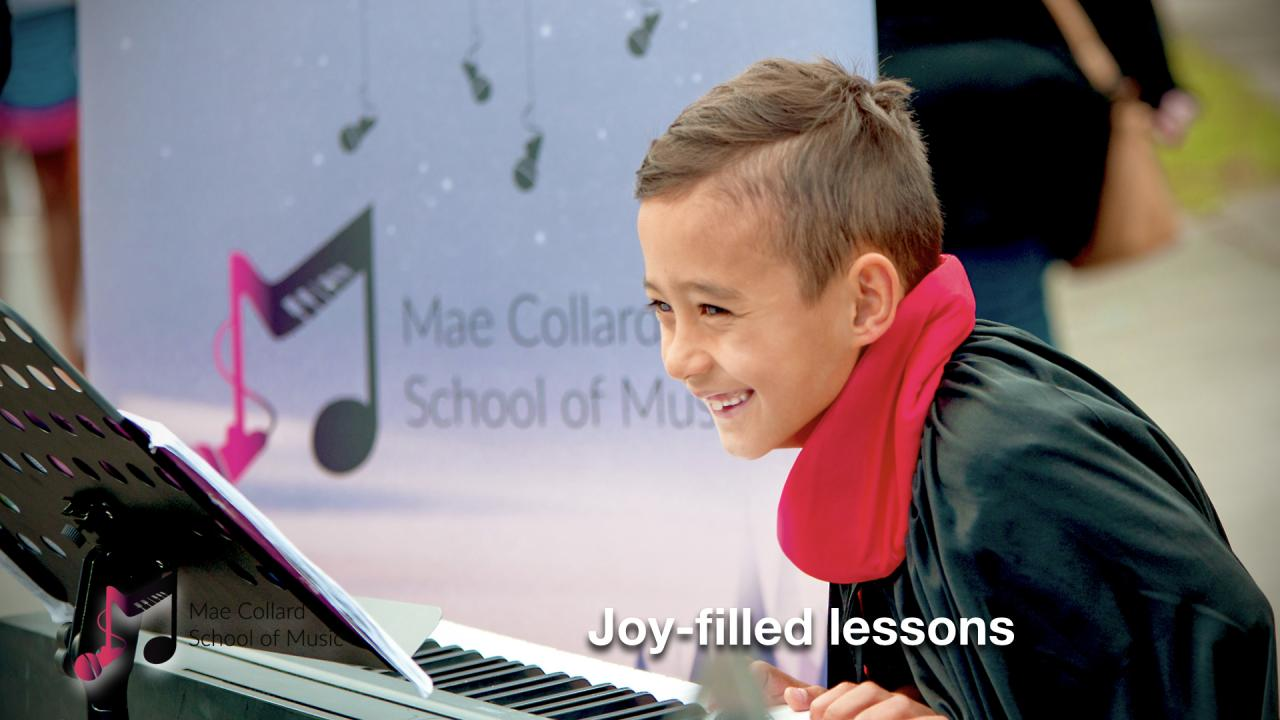 Joy-filled lessons
