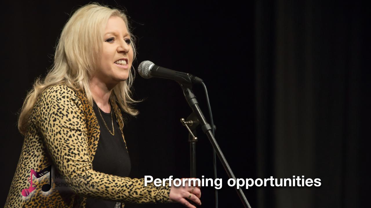 Performing opportunities